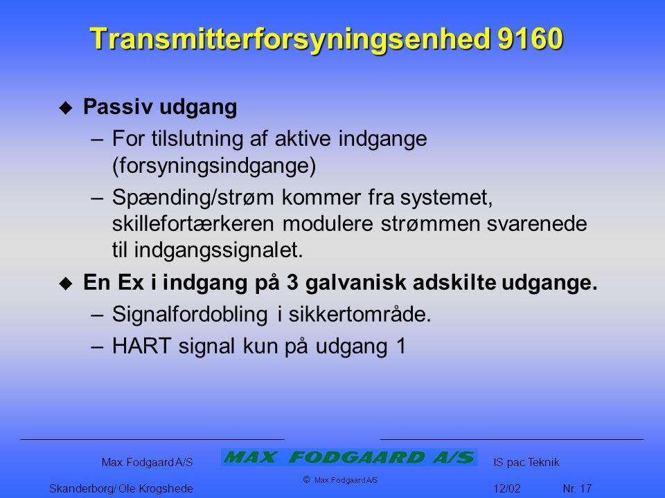 Transmitterforsyningsenhed 9160