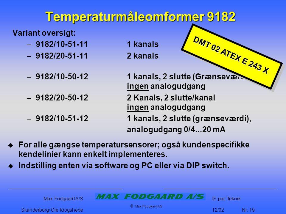 Temperaturmåleomformer 9182