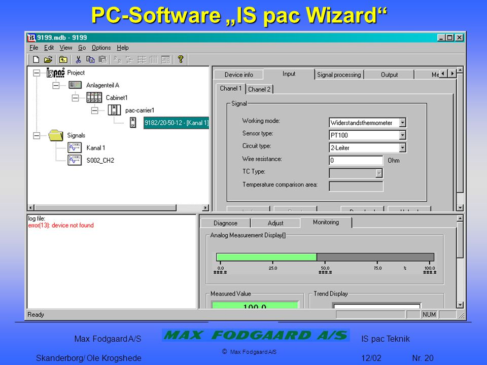 "PC-Software ""IS pac Wizard"
