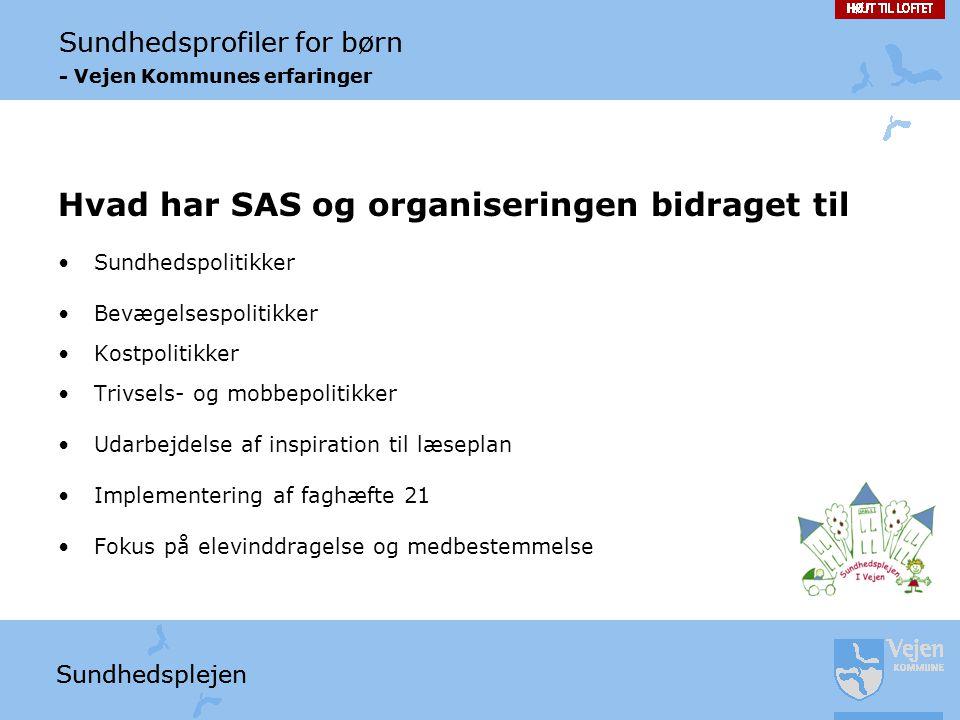Hvad har SAS og organiseringen bidraget til
