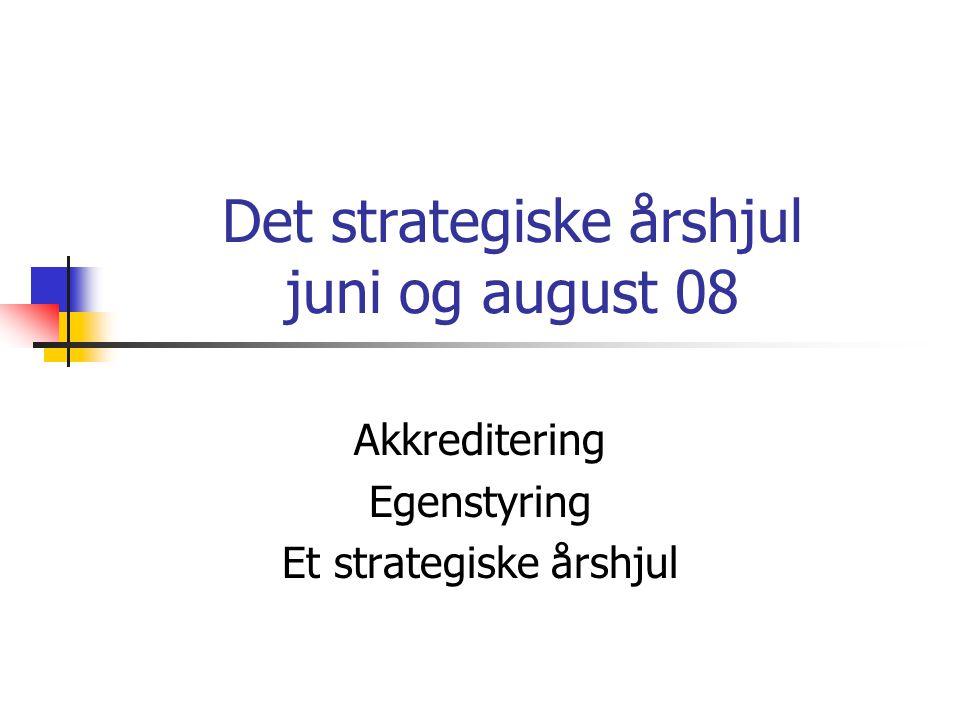 Det strategiske årshjul juni og august 08