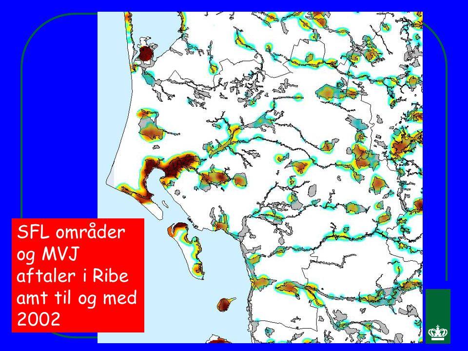 SFL områder og MVJ aftaler i Ribe amt til og med 2002