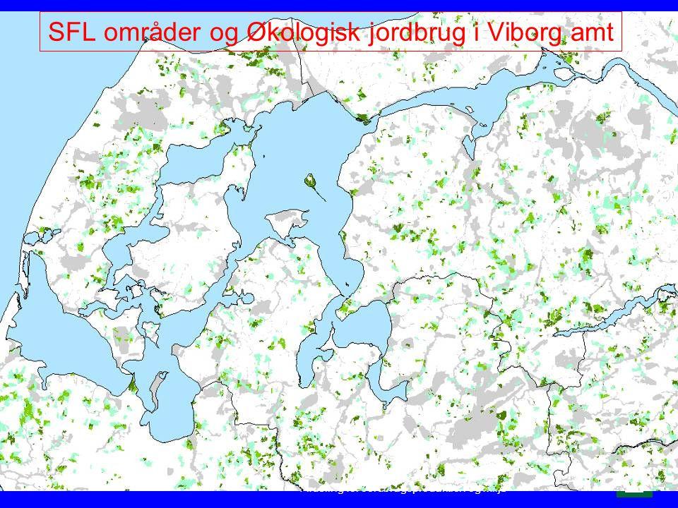 SFL områder og Økologisk jordbrug i Viborg amt