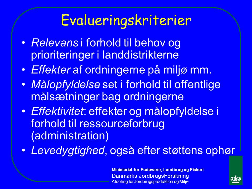 Evalueringskriterier