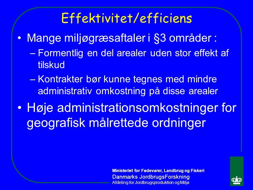 Effektivitet/efficiens