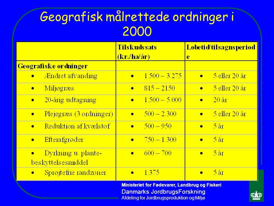 Geografisk målrettede ordninger i 2000