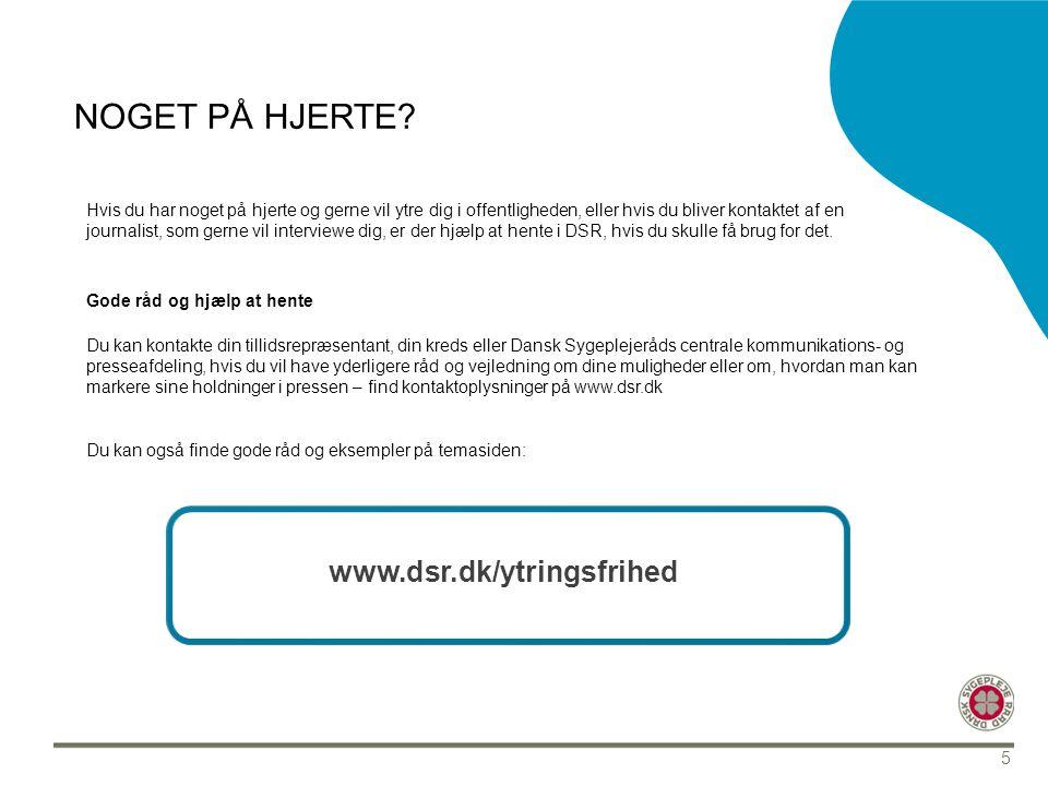 Noget på hjerte www.dsr.dk/ytringsfrihed