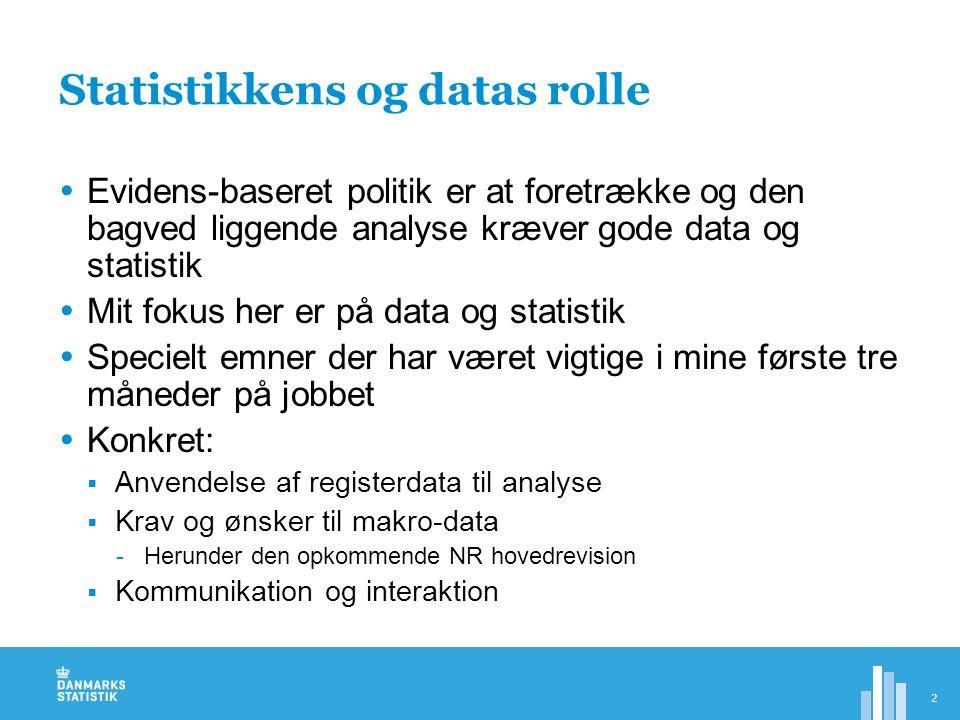 Statistikkens og datas rolle
