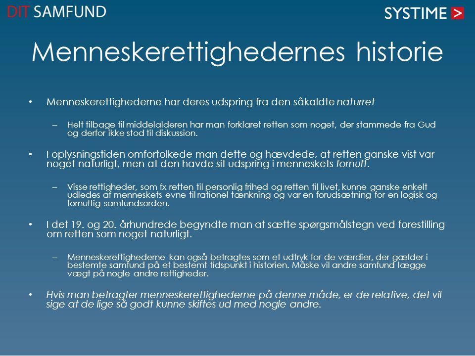 Menneskerettighedernes historie