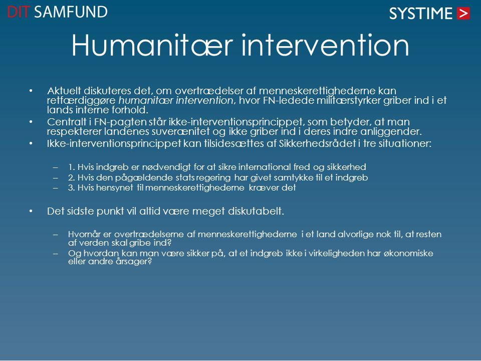 Humanitær intervention