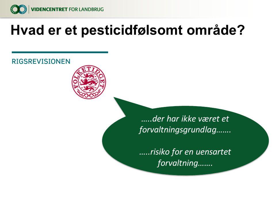 Hvad er et pesticidfølsomt område