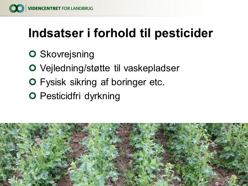 Indsatser i forhold til pesticider