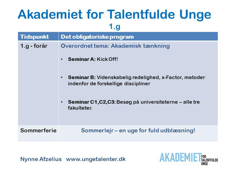 Akademiet for Talentfulde Unge 1.g
