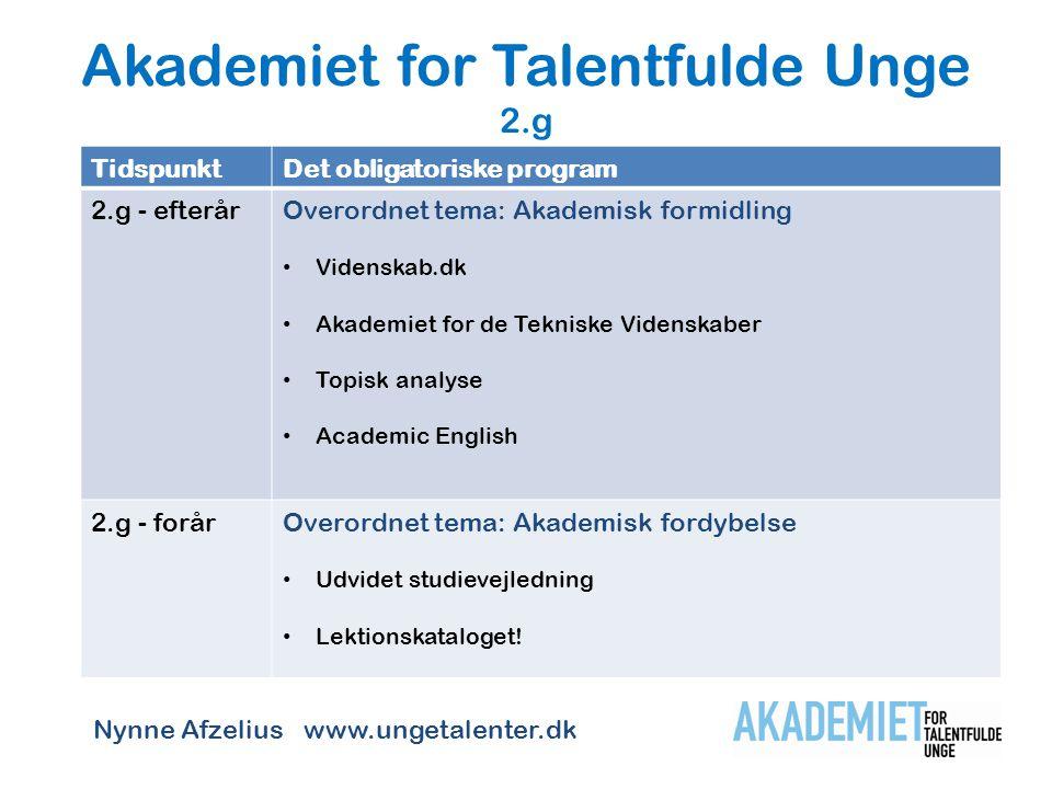 Akademiet for Talentfulde Unge 2.g