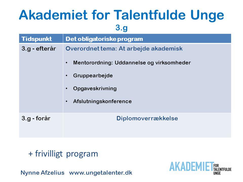Akademiet for Talentfulde Unge 3.g