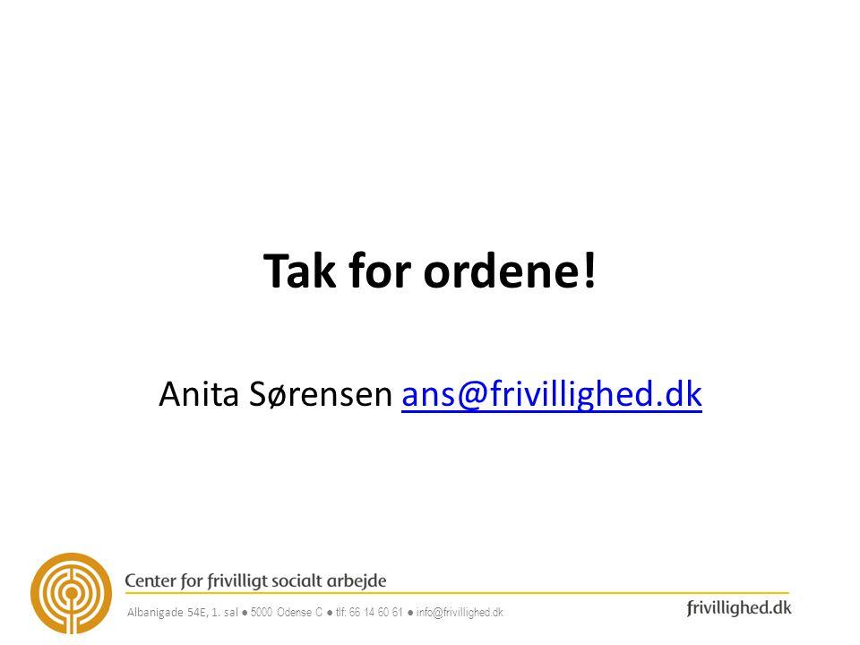 Anita Sørensen ans@frivillighed.dk