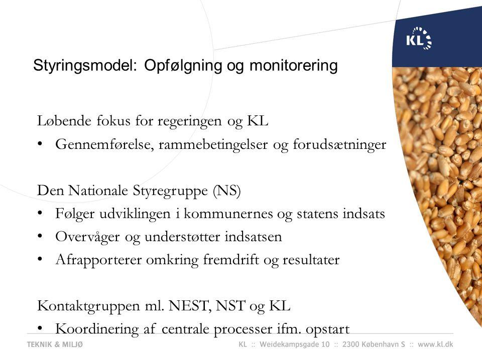 Styringsmodel: Opfølgning og monitorering