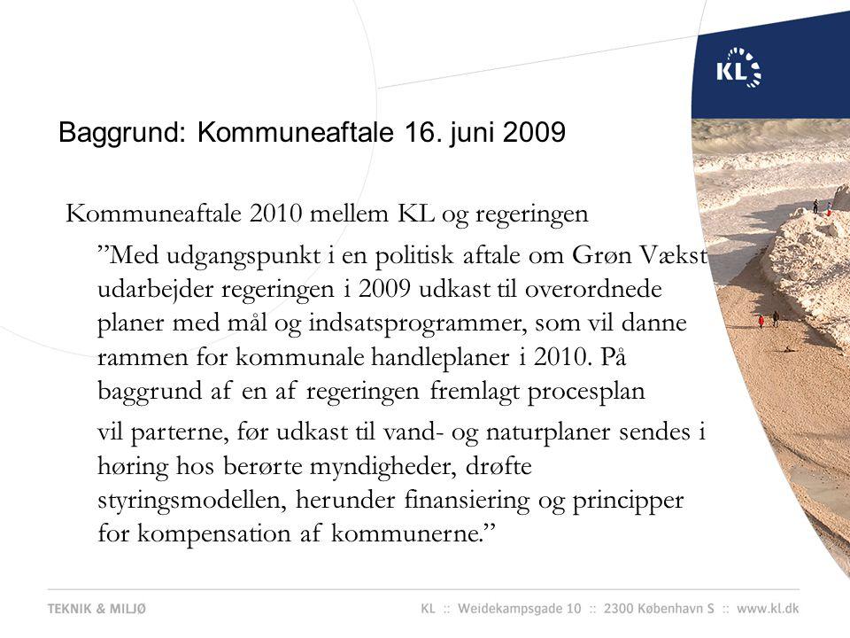 Baggrund: Kommuneaftale 16. juni 2009