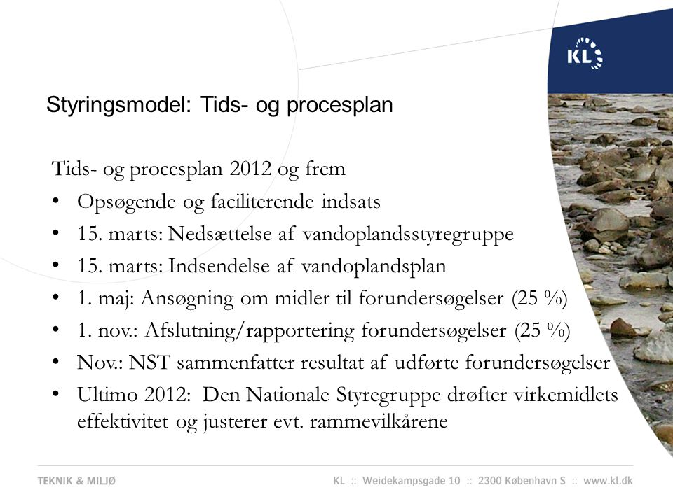 Styringsmodel: Tids- og procesplan