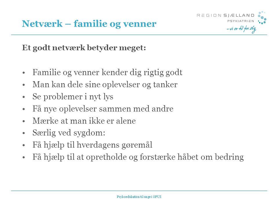 Netværk – familie og venner