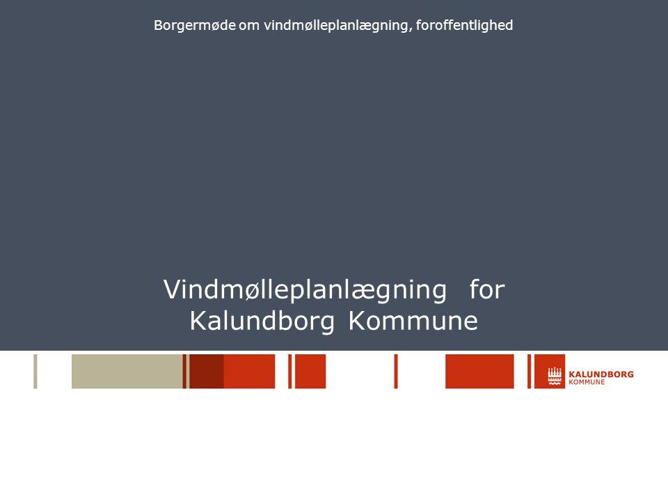 Vindmølleplanlægning for Kalundborg Kommune