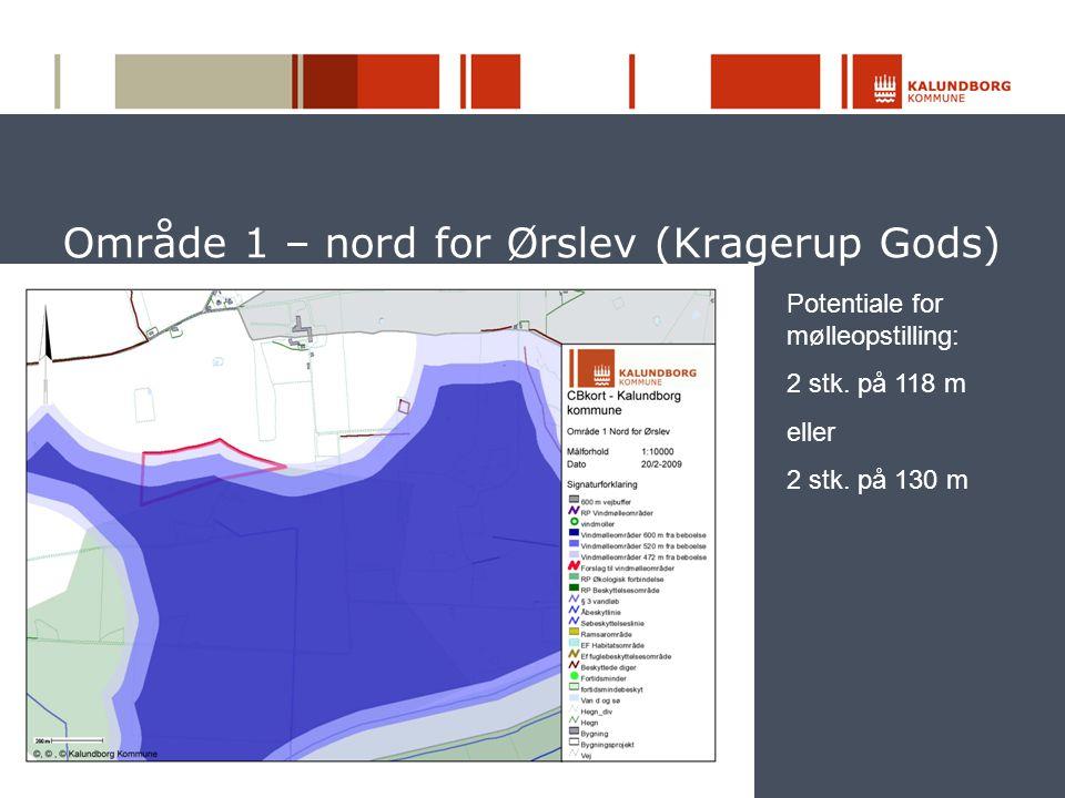 Område 1 – nord for Ørslev (Kragerup Gods)