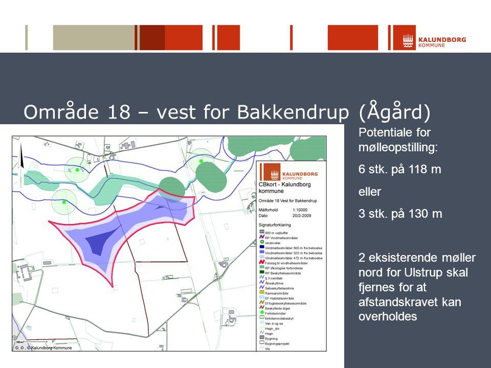 Område 18 – vest for Bakkendrup (Ågård)