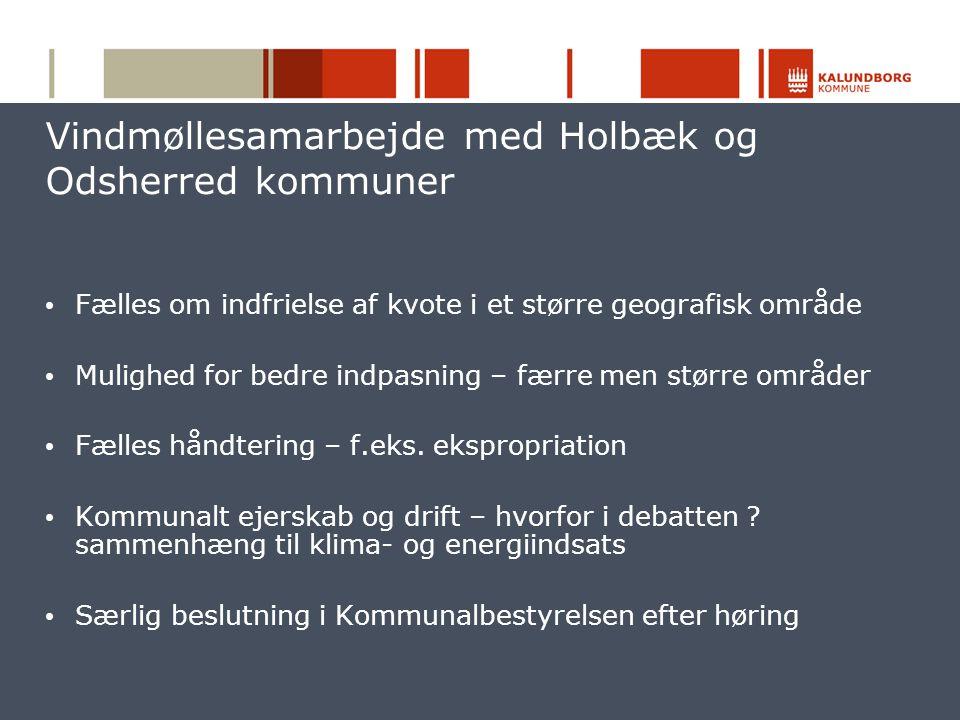Vindmøllesamarbejde med Holbæk og Odsherred kommuner