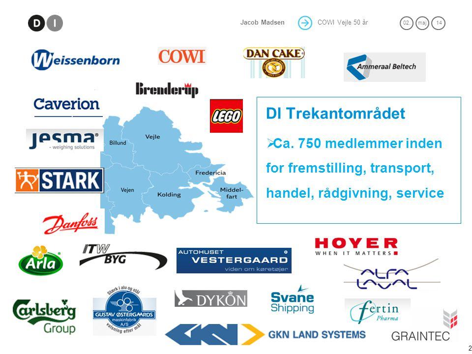 DI Trekantområdet Ca. 750 medlemmer inden for fremstilling, transport, handel, rådgivning, service