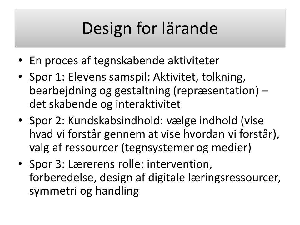 Design for lärande En proces af tegnskabende aktiviteter