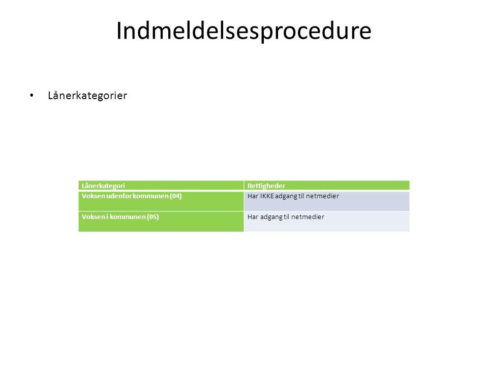 Indmeldelsesprocedure