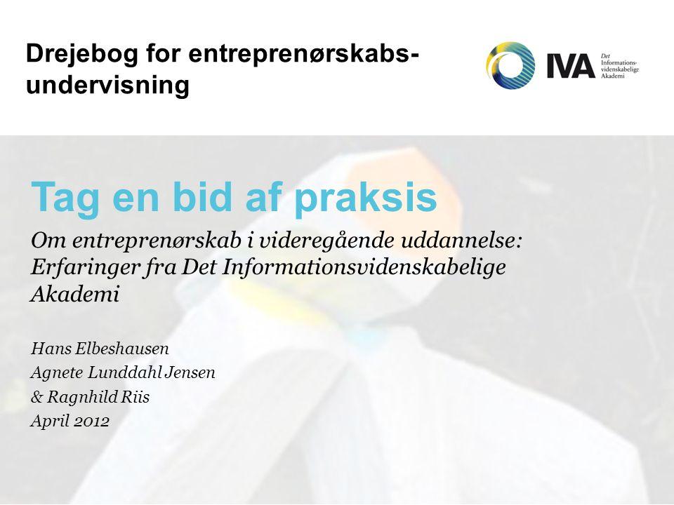 Drejebog for entreprenørskabs-undervisning