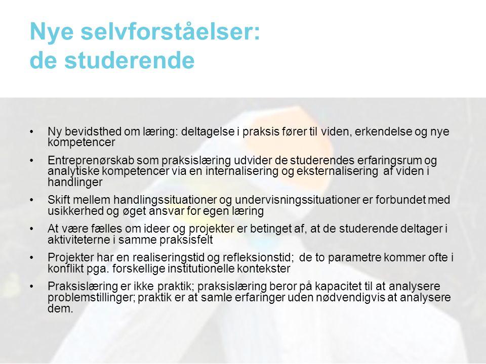 Nye selvforståelser: de studerende