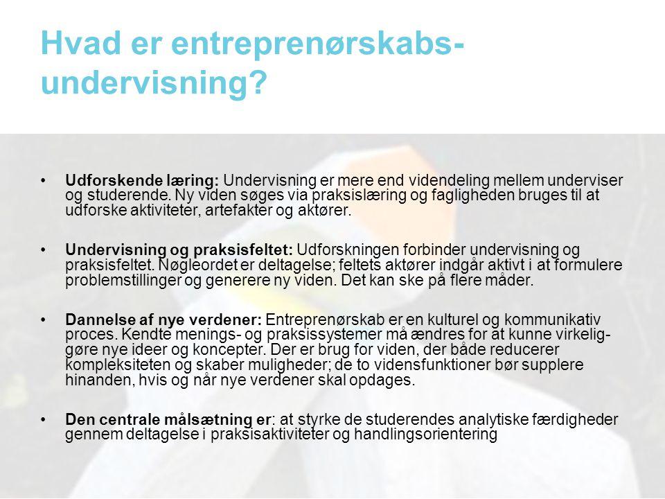 Hvad er entreprenørskabs-undervisning
