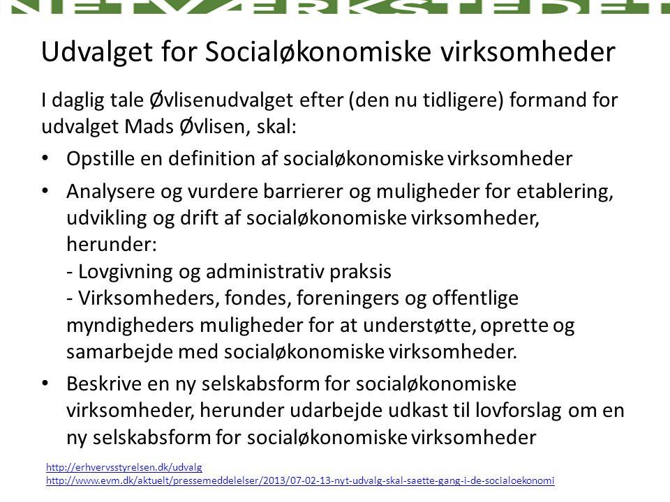 Udvalget for Socialøkonomiske virksomheder