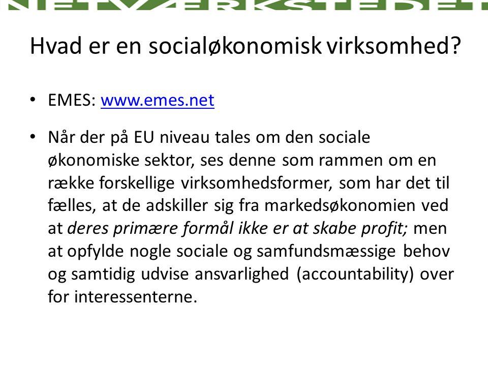 Hvad er en socialøkonomisk virksomhed