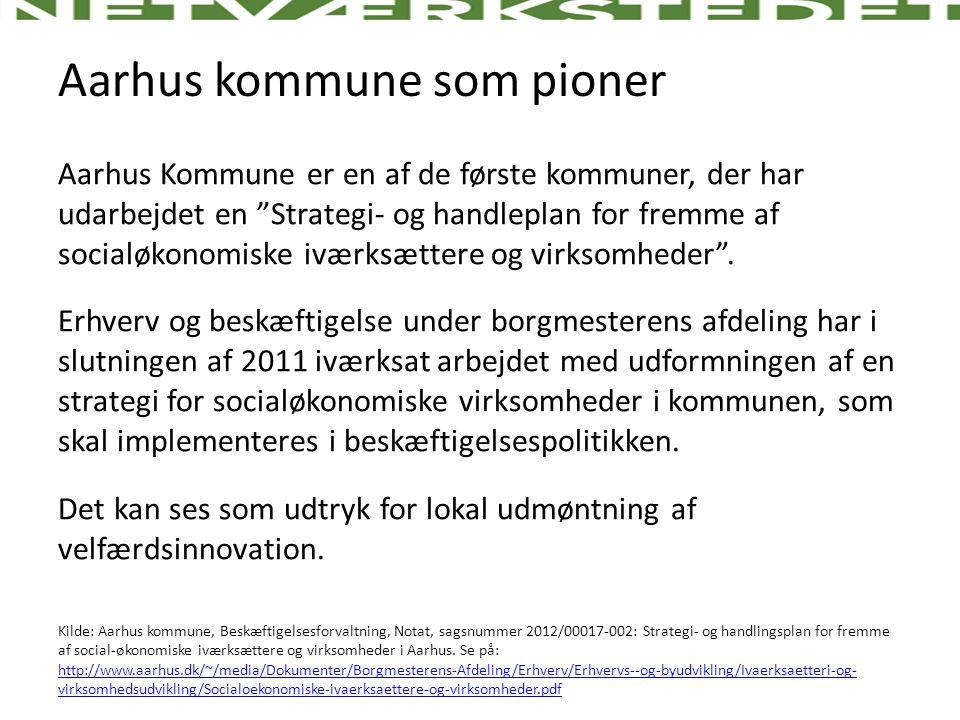 Aarhus kommune som pioner