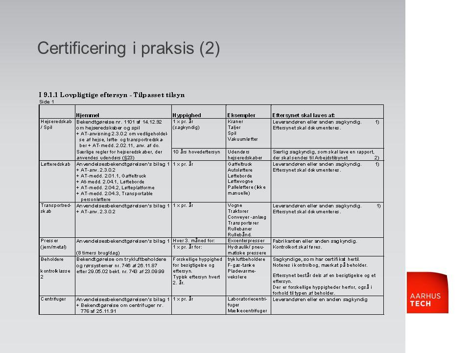 Certificering i praksis (2)