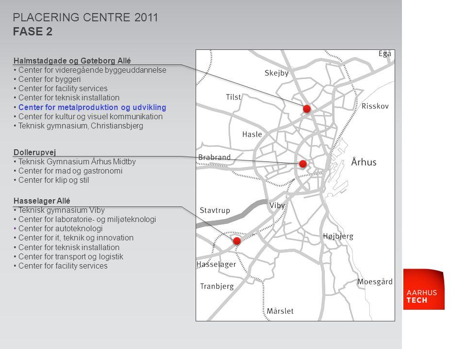 PLACERING CENTRE 2011 FASE 2 Halmstadgade og Gøteborg Allé