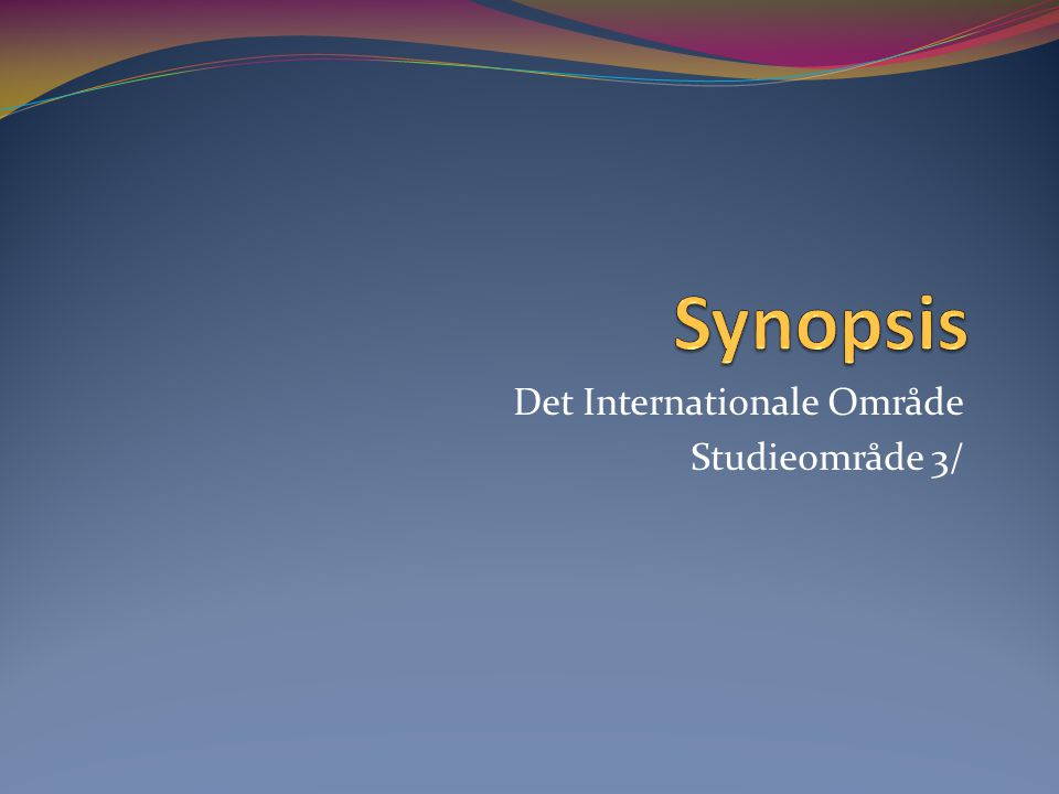Det Internationale Område Studieområde 3/