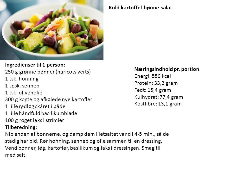 Kold kartoffel-bønne-salat