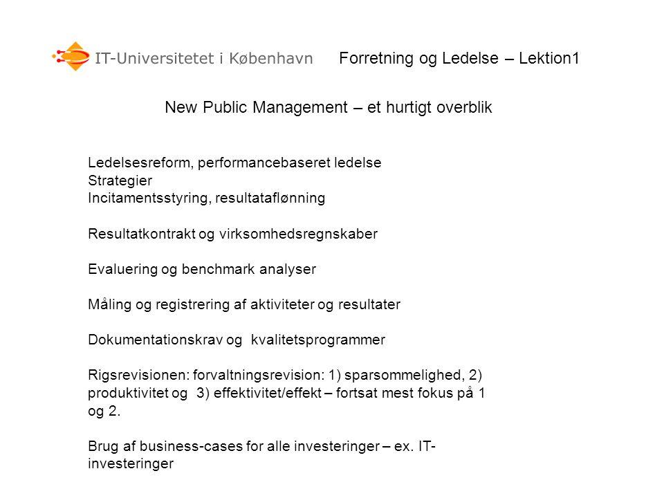 Forretning og Ledelse – Lektion1
