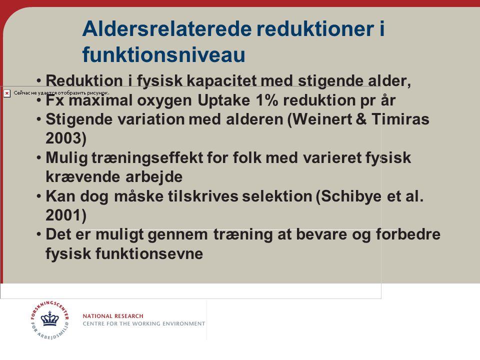 Aldersrelaterede reduktioner i funktionsniveau