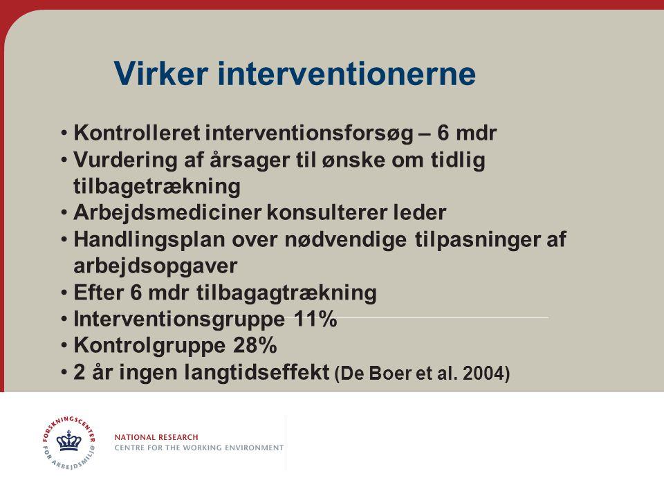 Virker interventionerne