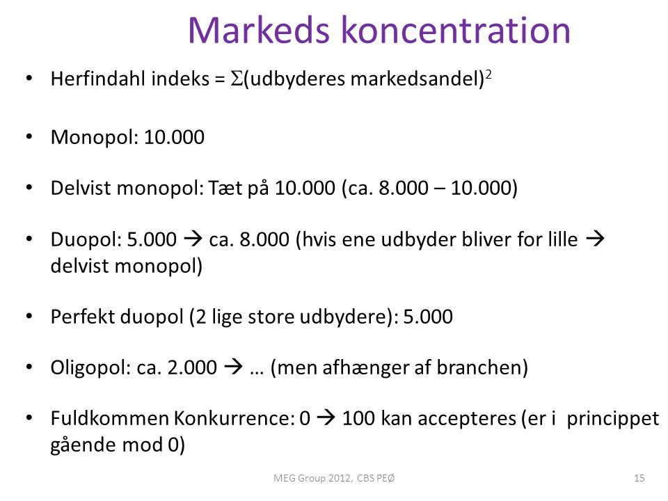 Markeds koncentration