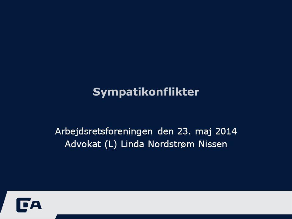 Sympatikonflikter Arbejdsretsforeningen den 23. maj 2014