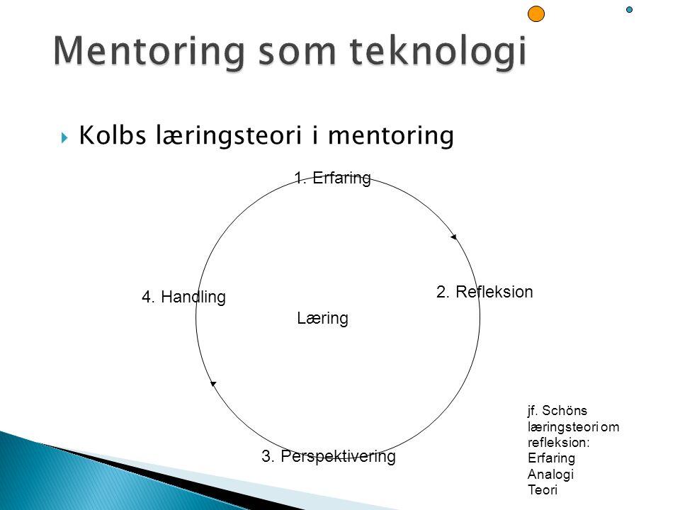 Mentoring som teknologi