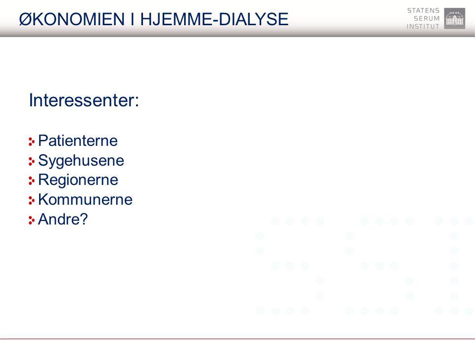 Økonomien I hjemme-dialyse