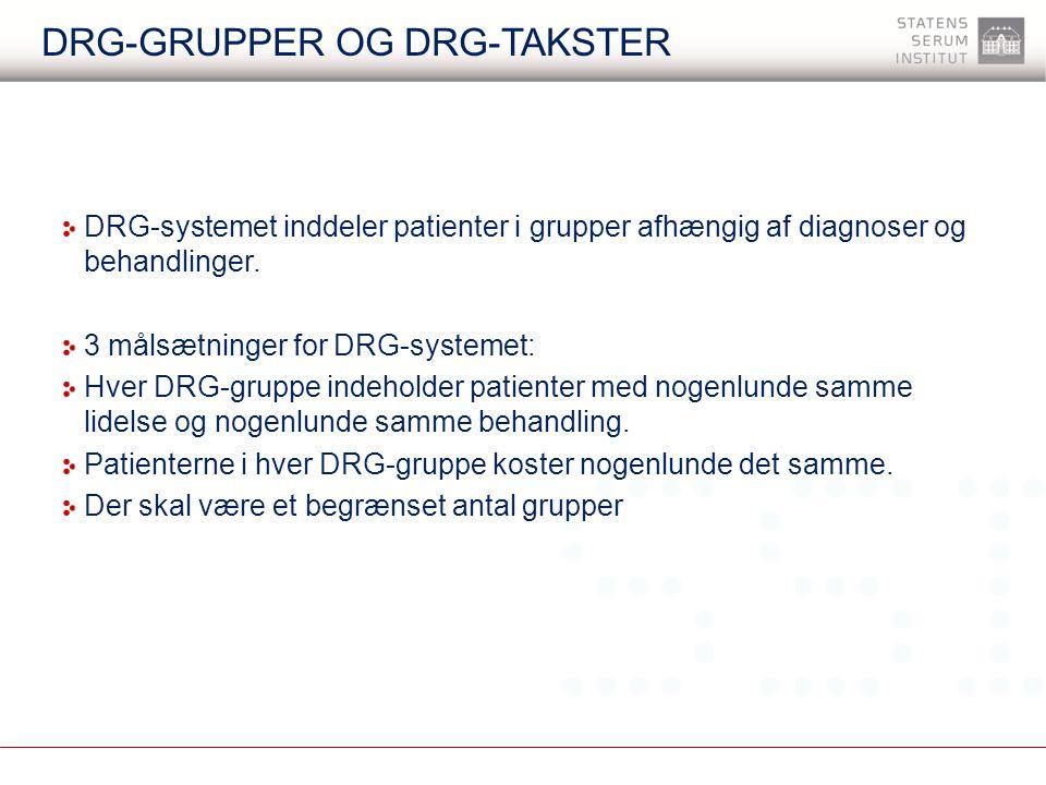 DRG-grupper og DRG-takster