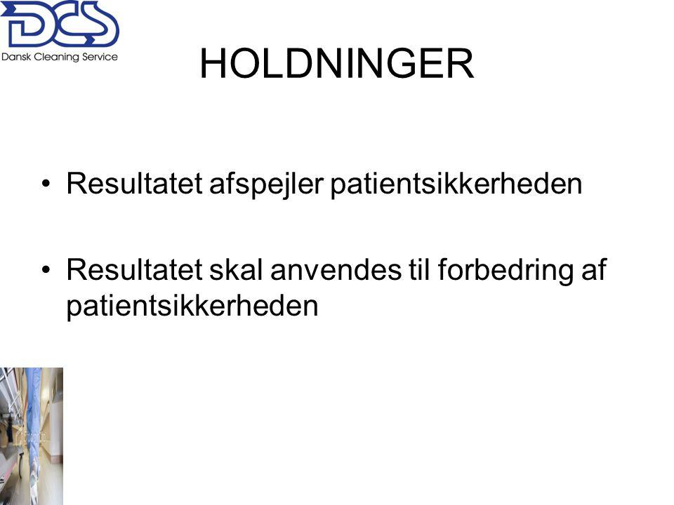 HOLDNINGER Resultatet afspejler patientsikkerheden